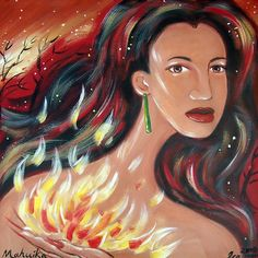 Mahuika - mother of the fire. associated with caves and is responsible for forest fires.