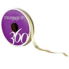 "Celebrate It 360° Gold Lamé Ribbon, 1/4"""