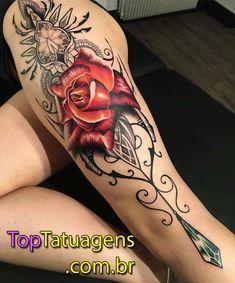 40 tatuagens femininas de rosas para você se inspirar | #tattooforwomen #Tatuagemfeminina