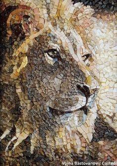 Vojna Bastovanovic Casteel Mosaics added 42 new photos to the album: MOSAICS, Vojna Bastovanovic. Mosaic Tile Art, Mosaic Artwork, Mosaic Diy, Mosaic Garden, Mosaic Crafts, Mosaic Projects, Stone Mosaic, Mosaic Glass, Mosaic Patterns