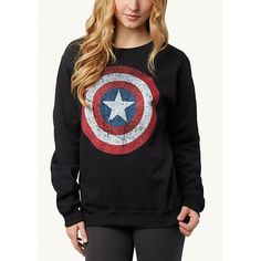 Stylish Round Neck Long Sleeve Star Print Loose-Fitting Women's Sweatshirt | NastyDress.com