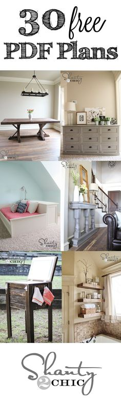 30 FREE Printable Plans and step-by-step tutorials for any budget! 30 FREE Printable Plans and step-by-step tutorials for any budget! DIy Furniture plans build your own furniture Diy Furniture Plans, Furniture Projects, Home Projects, Home Furniture, Woodworking Furniture, Building Furniture, Vintage Furniture, Victorian Furniture, Furniture Making