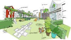 ERA Contour, Heren 5 Architecten en DELVA Landscape Architects hebben de prijsvraag gewonnen voor de ontwikkeling van 49 woningen.