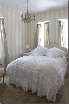 all white bed. The Prairie by Rachel Ashwell.