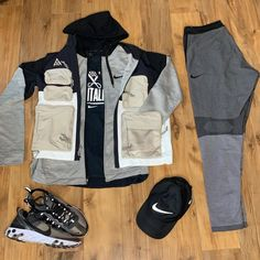 "Justen Torain on Instagram: ""Outfit Grid: Nike Essentials Entry 1 . Swipe For Details!😎 . . Nike Dri Fit Hat Nike ACG Vest Nike Tech Fleece Zip Up Nike Mentality…"""
