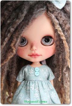 OOAK Custom Blythe doll Tanned Skin.