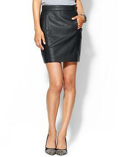 French Connection Riot Faux Leather Skirt | Piperlime