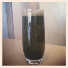 Miranda's Power Shake:  The Water from a young fresh coconut  Half a glass Goats or Almond milk  1 Tablespoon Acai powder  1 Tablespoon Goji Berries  1 Tablespoon Spirulina  1 Tablespoon Raw Cocoa powder  1 Tablespoon Maca Powder  1 Tablespoon Chia Seeds  1 Tablespoon Raw Vegan Protein Powder