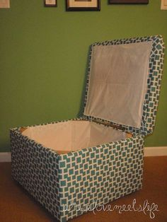 DIY Storage Ottoman - I probably will not be able to do this by myself.