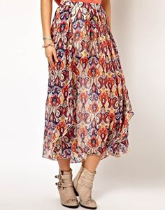 Enlarge Pepe Jeans Wrapped Printed Skirt