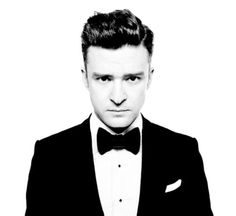 Bow tie with tux look via Justin Timberlake Suit & Tie video- Big Band vintage 40s styling