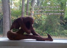 Lonely woman, healing #haiku sculpture by Pat Monk