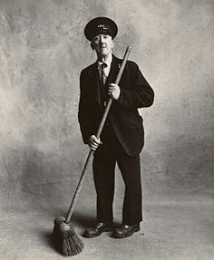 Irving Penn: Small Trades - Road Sweeper, London, 1950