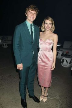 """American Horror Story"" co-stars Emma Roberts and Evan Peters got engaged in January 2014, about six... - Dave Allocca/StarTraks"