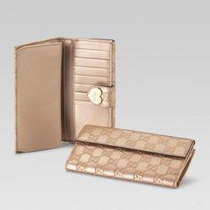 203550 Ahb1g 2729 Continental Geldb?rse mit eingraviertem Gucci Skript-Logo Herz-Detail Gucci Damen Portemonnaie