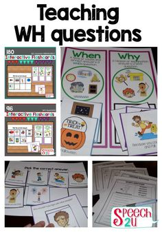 Have you wondered what the best way to teach WH questions is? Learn activities and ideas to teach a variety of WHAT questions.