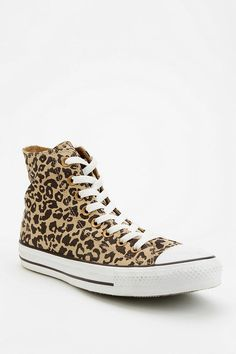 Converse Chuck Taylor All Star Animal Print High-Top Sneaker #urbanoutfitters