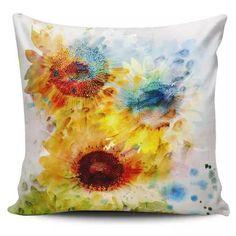 Cojin Decorativo Tayrona Store Flores Margarias De Colores - $ 43.900