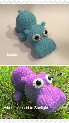 Hippo Rubber Band Figure by BBLNCreations on Etsy Loomigurumi Amigurumi Rainbow Loom