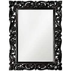 "Black Wall Mirrors gardere black wood 30""x40"" mosaic wall mirror | wall art"