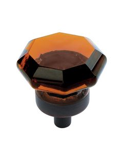 "BP55266-AORB - Amerock 1"" Traditional Classics Amber Glass / Oil-Rubbed Bronze Knob"