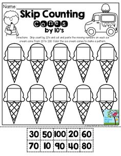 Skip counting by 10's with Christmas cupcakes FREEBIE! by