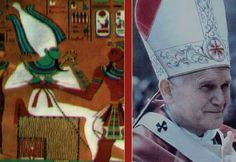 The Maltese cross was worn by the priest of Horus in ancient times. Nowadays, the Pope takes the role.
