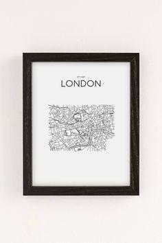 Slide View: 2: Printable Market London City Map Wall Art Print
