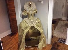 One of a kind - Dress sits top of a Gold Leafed Shelf.  Close the dress to hide what is on the shelf! - VarageSale Sarnia