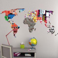 Suivez cette astuce pour réaliser une carte des cinq continents colorée et faire découvrir la géographie à vos petits !