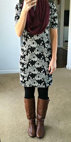 London Times Cassia Dress: October 2015 Stitch Fix Review |www.pearlsandsportsbras.com|