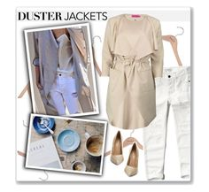 """Duster Jackets"" by ambervogue ❤ liked on Polyvore featuring PERIGOT, Abercrombie & Fitch, Boohoo, Kurt Geiger and dusterjackets"