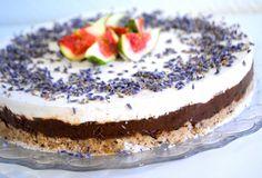 Spiced Blueberry Shake: Raw Chocolate Levander Cake with Whipped Coconut Cream