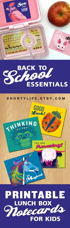 Downloadable Lunchbox Note Cards. Only $4.25. Let your kids know you are thinking of them during the school day. Download, print, and cut all from home or local office supply store. Then slip one into their lunchbox or backpack. A fast, easy way to show you love them.
