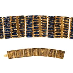 The Wave - Guilded Rebus Bronze Bracelet by Line Vautrin