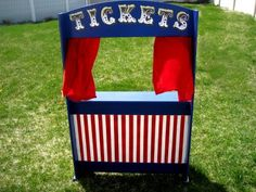 Circus Ticket Booth - Kara's Party Ideas - The Place for All Things Party