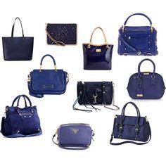 Midnight blue bags