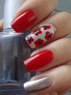 Tales of knit and nails summer nail art в 2019 г. nails, red nails и na Manicure Y Pedicure, Shellac Nails, Red Nails, Manicure Ideas, Beautiful Nail Art, Gorgeous Nails, Cute Nails, Pretty Nails, Finger
