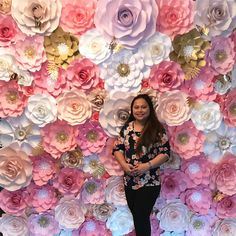 Start your own paper flower business with this combo you asked for heres our massive paper flower wall set up last saturday paper flowers mightylinksfo