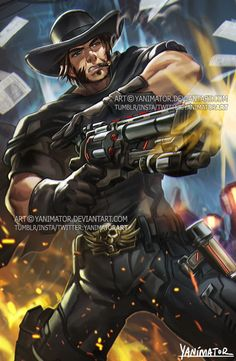 Tumblr / Instagram / Twitter IT'S HIGH NOON!Blackwatch McCree is my fav Jesse McCree skin period. Hope I did the skin justice :3