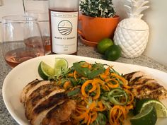 North 42 Degrees Estate Winery 2018 Cabernet Sauvignon Rosé with Asian Sesame Cucumber Salad. Essex County, Thai Basil, Toasted Sesame Seeds, Complete Recipe, Heat Treating, Salad Ingredients, Cucumber Salad, Rice Vinegar, Fresh Lime Juice