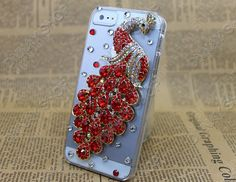 iphone 5 4 4s case Fashion   Pearl  red Phoenix  by dnnayding, $21.99
