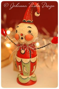 Johanna Parker Snowman Egg Cup   Folk Art by Johanna Parker Design, via Flickr