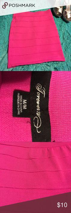 Forever 21 pink skirt size medium Pre-owned forever 21 pink skirt size medium. Forever 21 Skirts Mini