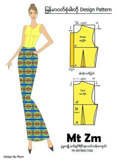 My creation Baby Dress Patterns, Dress Making Patterns, Blouse Patterns, Clothing Patterns, Pattern Draping, Corset Pattern, Myanmar Dress Design, Myanmar Traditional Dress, Plus Size Sewing