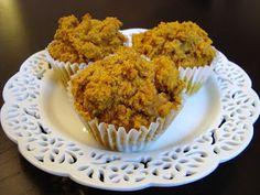 Healthy pumpkin carrot muffins