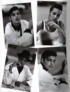 """"""" Linda Evangelista, Christy Turlington and Naomi Campbell photographed by Peter Lindbergh for Vogue Italia, """" Peter Lindbergh, Linda Evangelista, Christy Turlington, Naomi Campbell, Androgynous Women, Androgyny, Steven Meisel, George Michael, Cindy Crawford"""