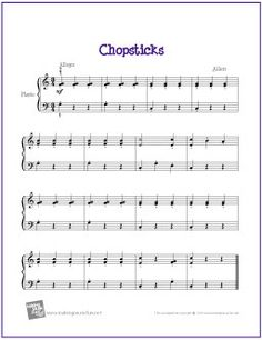 piano songs with letters for beginners | for beginner piano solo chopsticks free sheet music for beginner piano ...