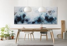 Extra Large Abstract Painting-original acrylic black white