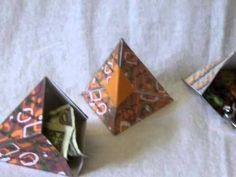 Origami: Caja Piramide - Hogar Tv  por Juan Gonzalo Angel